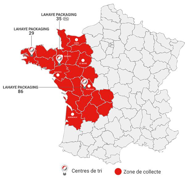 Carte Agences Lahaye Packaging