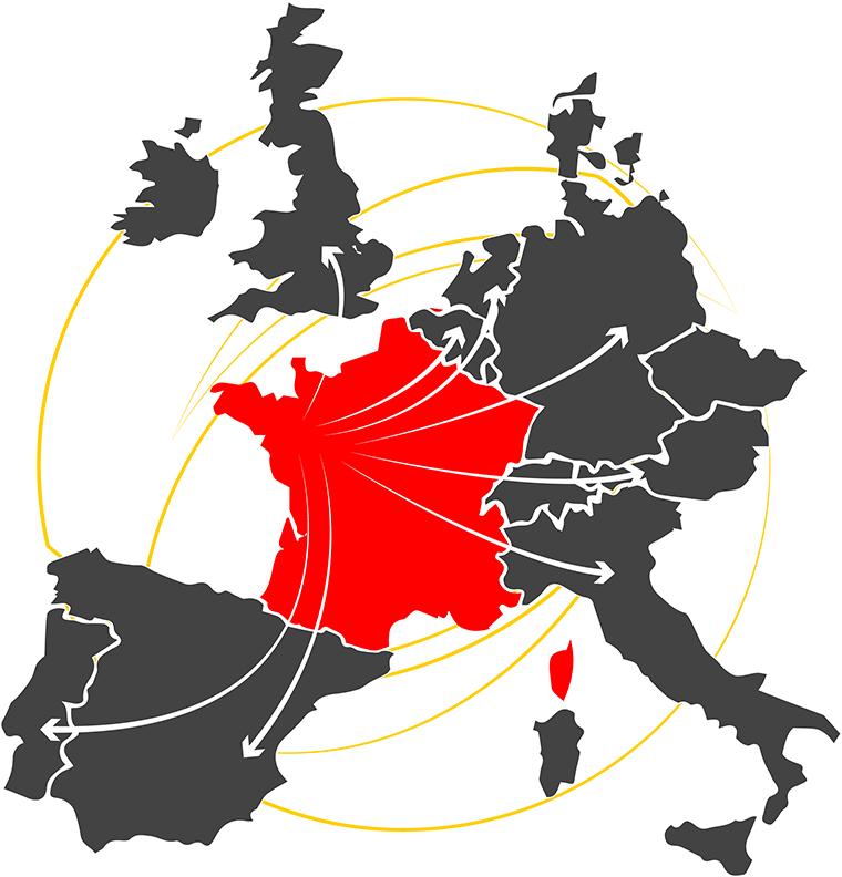 Lahaye Global Logistics Transport International Couverture Europe